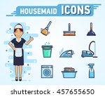 set of housekeeping icons.... | Shutterstock .eps vector #457655650