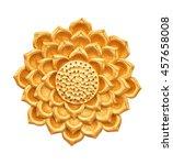 golden lamp isolated on white... | Shutterstock . vector #457658008