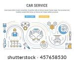 flat line illustration of car... | Shutterstock .eps vector #457658530