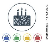 cake icon isolated on white...   Shutterstock .eps vector #457659073