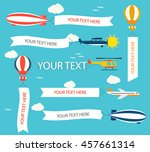 vector set of transport... | Shutterstock .eps vector #457661314