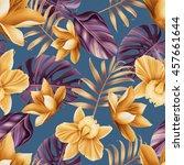 seamless tropical flower  plant ... | Shutterstock . vector #457661644