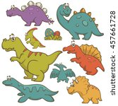 dinosaur collection set.... | Shutterstock .eps vector #457661728