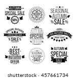 autumn sale logotypes set.... | Shutterstock .eps vector #457661734