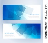 abstract shapes banners in blue ... | Shutterstock .eps vector #457663144