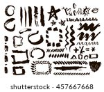 grunge design elements set.... | Shutterstock .eps vector #457667668