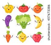 healty food cartoon... | Shutterstock .eps vector #457673386