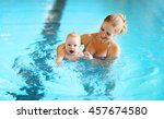 healthy family mother teaching... | Shutterstock . vector #457674580