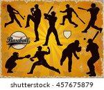 baseball players in vector... | Shutterstock .eps vector #457675879