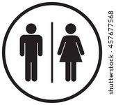 bathroom sign icon | Shutterstock .eps vector #457677568