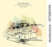 salzburg  salzburger land ... | Shutterstock .eps vector #457684444