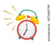 alarm clock  wake up time in... | Shutterstock .eps vector #457689799