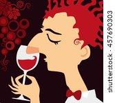 sommelier   a wine steward....   Shutterstock . vector #457690303
