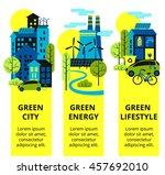 green city vertical banners.... | Shutterstock .eps vector #457692010