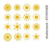 yellow summer sun symbols   Shutterstock . vector #457692400