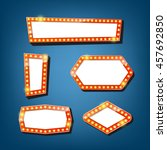 electric bulbs billboard. retro ...   Shutterstock .eps vector #457692850