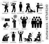 negative personalities... | Shutterstock .eps vector #457693240