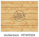 background of realistic wooden... | Shutterstock .eps vector #457695334