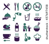 food  eat icon set | Shutterstock .eps vector #457697458