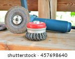 circular saw with an abrasive... | Shutterstock . vector #457698640
