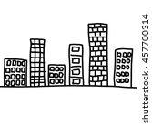 city in hand drawn design idea