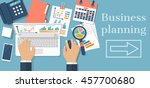 business planning concept.... | Shutterstock .eps vector #457700680