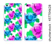 vector phone case. colorful... | Shutterstock .eps vector #457704628