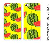 vector phone case. colorful... | Shutterstock .eps vector #457704658