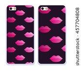 vector fashion phone case.... | Shutterstock .eps vector #457704808