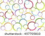 abstract colorful glowing... | Shutterstock .eps vector #457705810
