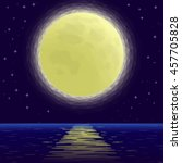landscape background  night sea ... | Shutterstock .eps vector #457705828