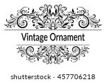 vintage calligraphic ornament ... | Shutterstock .eps vector #457706218