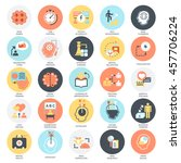 flat conceptual icons set of... | Shutterstock .eps vector #457706224