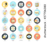 flat conceptual icons set of... | Shutterstock .eps vector #457706380