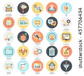 flat conceptual icons set of... | Shutterstock .eps vector #457706434