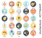 flat conceptual icons set of... | Shutterstock .eps vector #457706449