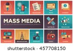set of modern vector flat... | Shutterstock .eps vector #457708150