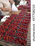 Strawberries In Market Libourn...