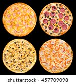 Four Different Pizzas With...