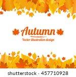 autumn vector poster. | Shutterstock .eps vector #457710928