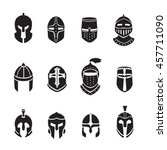warrior helmets black icons or...