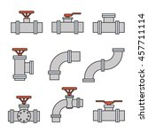 vector icons of pipe connector  ... | Shutterstock .eps vector #457711114