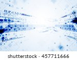 abstract blue technological... | Shutterstock .eps vector #457711666