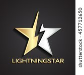 3d star lightning gold silver... | Shutterstock .eps vector #457712650