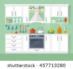 kitchen interior design in a... | Shutterstock .eps vector #457713280