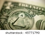 close up of single dollar bill | Shutterstock . vector #45771790
