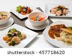 variety of food  | Shutterstock . vector #457718620