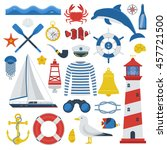 Sea Travel Elements Collection...