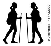 Set Of Two Silhouettes   Girl ...