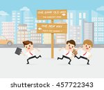 brave business man choose the...   Shutterstock .eps vector #457722343